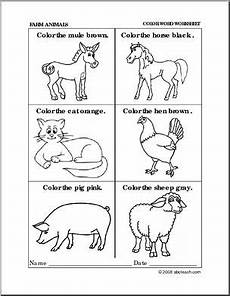 animal worksheets to colour 14048 worksheet farm animals coloring preschool primary b w abcteach