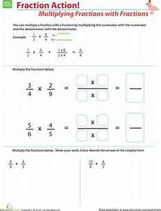 5th grade math worksheets multiplying fractions with