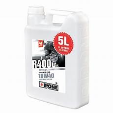 huile moteur 10w40 huile moteur ipone promo r4000 rs 10w40 4 l 1 l gratuit bidon de 5 litres huiles