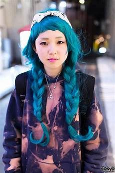 harajuku style hair aqua braids hairstyle in harajuku tokyo fashion news