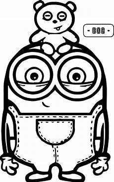 bob and minions coloring page minions coloring