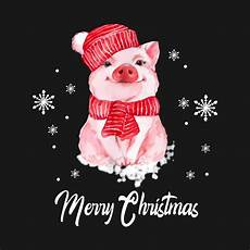 merry christmas cute pig christmas tshirt funny gifts christmas t shirt teepublic