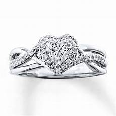 diamond engagement ring 3 4 ct tw heart shaped 14k white gold 80590110