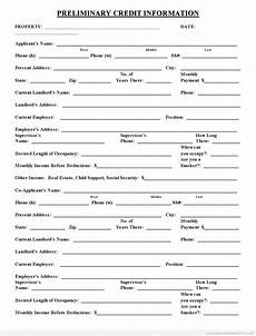 real estate credit application form free printable real estate forms credit applications