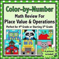 color by number math worksheets 5th grade 16206 back to school color by number 4th 5th grade 4 gains