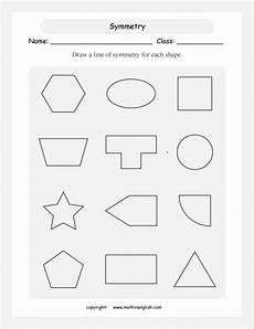 line of symmetry worksheet for each shape draw a line of symmetry symmetry worksheets