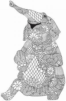 printable coloring pages for adults animals 17282 happy elephant from quot awesome animals quot abstract doodle zentangle coloring pages colouring