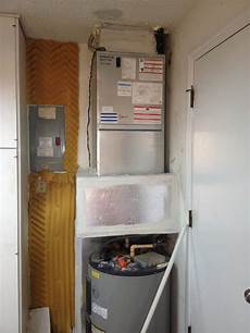 Water Heater In Apartment by Need Space Apartment Style Air Handler Installed In