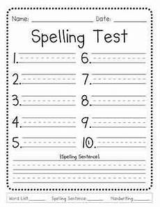 spelling test worksheets to print 22573 pin on ideas for school