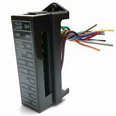 12 volt fuse box and cover fuse block panel 10 12 volt blade style fuses ground automotive ebay