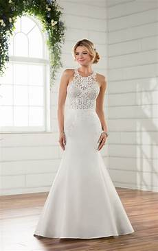 wedding dresses modern lace wedding gown essense of