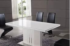 table blanc laqué rallonge salle 224 manger table avec rallonge blanc laqu 233
