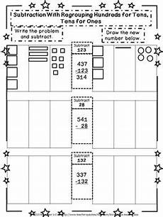 subtraction with regrouping in hundreds tens and ones worksheets 10668 subtraction regrouping hundreds for tens tens for ones student workbook
