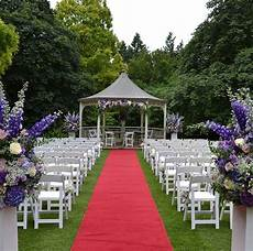 outdoor wedding ceremony by blomster designs meijer roses