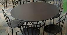 table ronde jardin 10340 table de jardin ronde 6 places