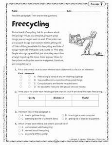 poetry comprehension worksheets for grade 4 25252 comprehension skills passages for reading grade 4