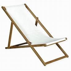 chaise longue de jardin bois toile veranda styledevie fr