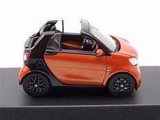 smart fortwo cabrio 2015 orange schwarz modellauto 1 43