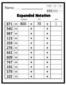 place value expanded notation up to thousands includes place value arrow cards