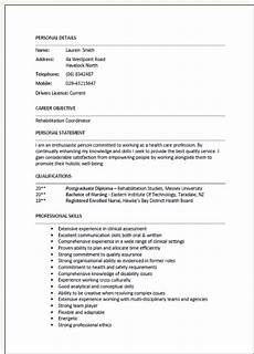 resume format new zealand resume format