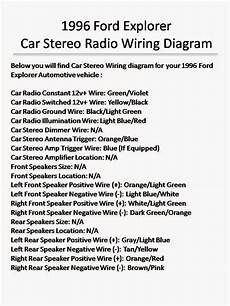1996 ford explorer wiring diagram wiring diagrams and free manual ebooks 1996 ford explorer car stereo radio wiring diagram
