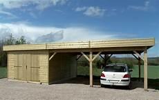 Garage En Bois Avec Toit Plat Et Carport R 233 Alis 233 En
