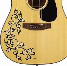 pro acoustic floral swirl decal sticker for guitar bodies 10 colour options diy ebay