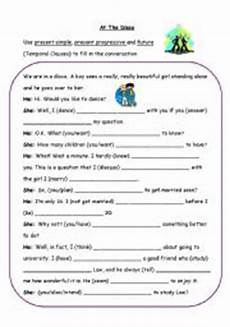 time clauses worksheets 2951 at the disco time clauses esl worksheet by f