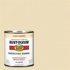 rust oleum stops rust 1 qt gloss almond protective enamel paint 7770502 the home depot