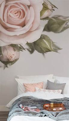 elegant pink rose wall mural pink bedroom decor rose