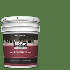 behr premium plus ultra 5 gal s h 430 mossy green flat exterior paint and primer in one 485305