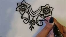 how to make henna flowers symmetrical