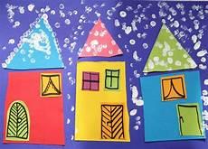 winterbilder zum basteln basteln mit kindern schneebild oder hurra es