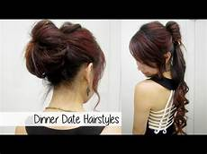 glamorous ponytail bun updo l cute dinner date nights
