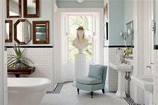 bring blue into your room black and white tiles bathroom