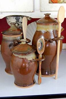 rustic kitchen canister sets kitchen canister set of three in brownstone made to