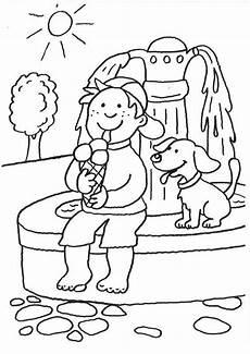 Ausmalbilder Junge Hunde Ausmalbild Hunde Hund Und Junge Beim Eisessen Ausmalen