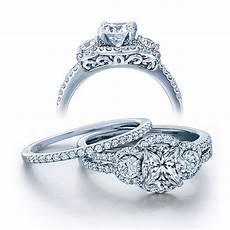 2 carat diamond wedding ring sets certified 2 carat princess cut diamond vintage wedding ring in white gold jeenjewels