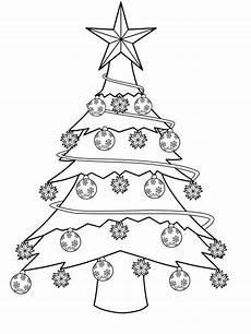 kostenlose malvorlage weihnachtsb 228 ume geschm 252 ckter