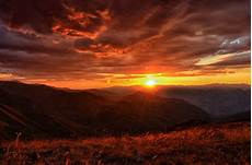 5009393 sunset landscape mountains clouds nature