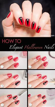 super easy step by step fall nail tutorials fashionsy com