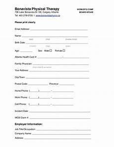 calgary physiotherapy workers compensation intake form