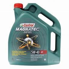huile moteur huile moteur castrol magnatec diesel 5w40 dpf