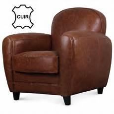 fauteuil en cuir fauteuil club en cuir marron vintage industriel demeure