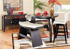 rooms to go kitchen furniture noah chocolate 4 pc bar height dining room with vanilla