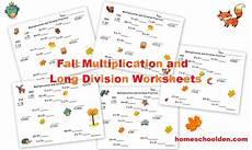 multiplication and division worksheets printable 6906 fall multiplication and division worksheets free homeschool den