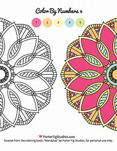 mandala coloring pages by numbers 17867 mandala printable coloring page 4 free porter fig studios