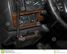 cb radio in car stock image image of interior closeup