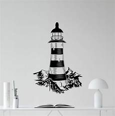 lighthouse wall decal bathroom vinyl sticker sea nautical