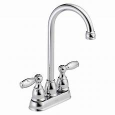 delta kitchen faucets home depot delta foundations 2 handle bar faucet in chrome b28911lf the home depot